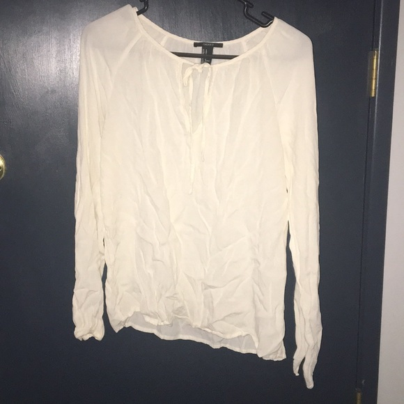 e05169c84f4539 Forever 21 Tops | White Flowing Shirt | Poshmark
